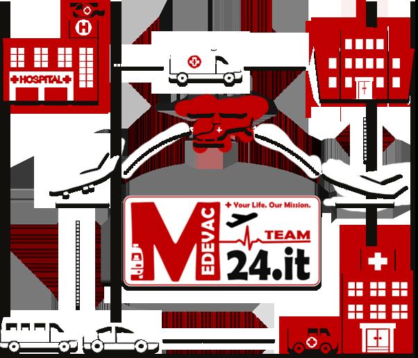 MEDEVAC TEAM 24 Croce Rossa Susa missioni di rimpatrio sanitario e di trasporto protetto su media-lunga percorrenza.